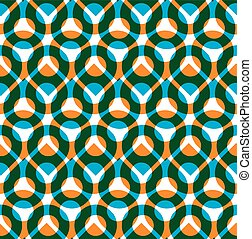 Colorful vector seamless pattern with green and orange...