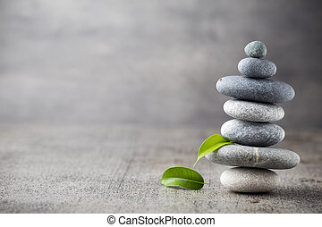Wellness background. - Spa stones treatment scene, zen like...