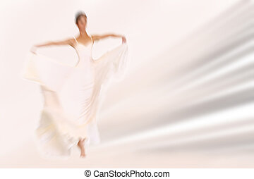 Abstract background - fashion model on catwalk - radial zoom...