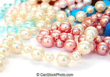Necklaces - Colorful necklaces on white background