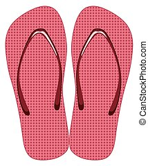 Slippers - Pink slippers on a white background