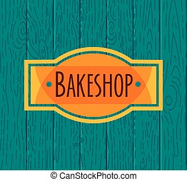 Collection of vintage retro bakery logo