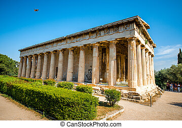 Hephaistos temple in Agora near Acropolis in Athens, Greece