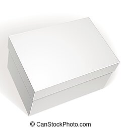 Package white box design isolated on white background,...