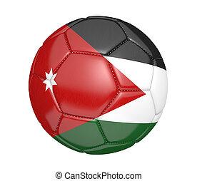 Soccer ball with flag of Jordan - Soccer ball, or football,...