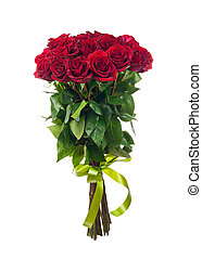Bouquet of blossoming dark red roses - Bouquet of blossoming...