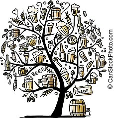 Beer tree, sketch for your design