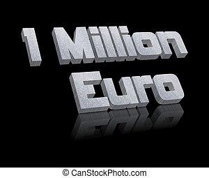 1 million euro 3d word