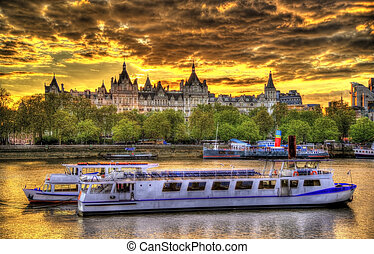 The Royal Horseguards Hotel, a historic building on a bank...