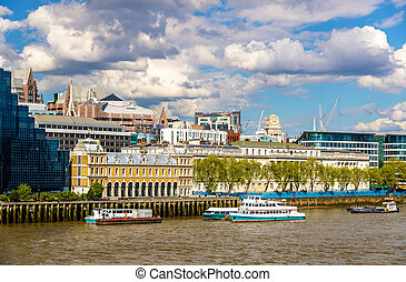 View of the City of London Custom House - England
