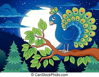 Bird topic image 2 - eps10 vector illustration.