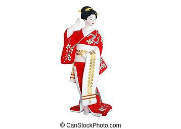 mujer, japón