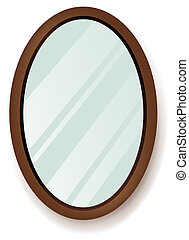 mirror - drawing of beautiful mirror in a white background
