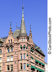 Architectural details of buildings in Oslo