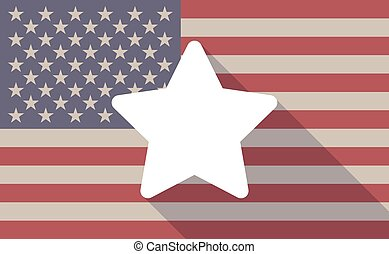 USA flag icon with a star