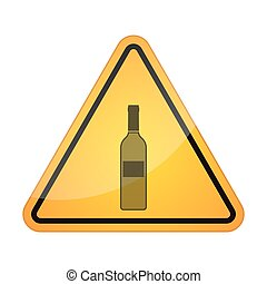 Danger signal icon with a bottle