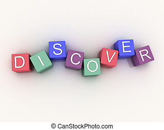 3d image Discover on white background