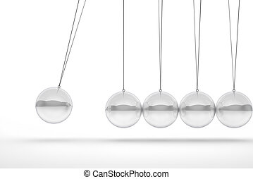 newton cradle - glass newton cradle 3d image