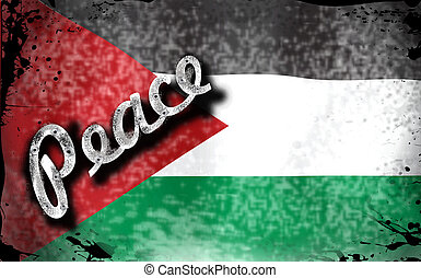 Palestine - My Unique Vector Design of a distressed...