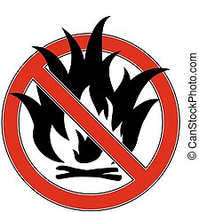 No fire sign - No fire red sign Vector EPS8 illustration