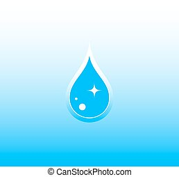 water background with drop - pure blue water background with...