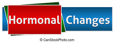 Hormonal Changes Red Blue Button - Hormonal Changes image...