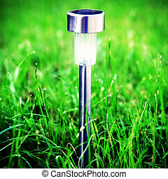 Solar Powered Lamp - Vignetting Photo of Solar Powered Lamp...