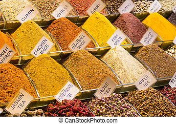 teas and spices in the market - teas and spices market...
