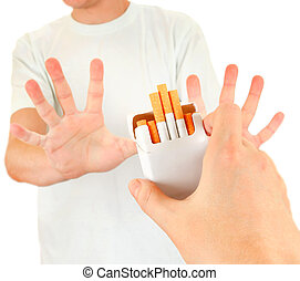 Person refuse a Cigarettes - Person refuse Cigarettes...