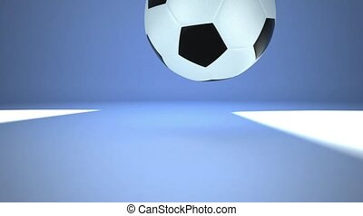 Football bounce on the ground - This is a realistic 3D...