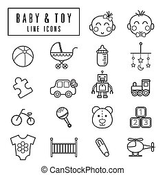 line icons baby&toy