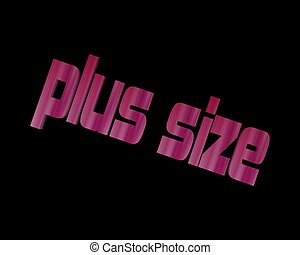 plus size 3d word