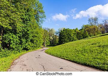 spring landscape Park - spring landscape Sophia Park in...