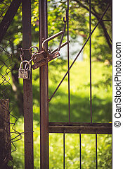 Gate and grass