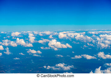 Blue clouds and sky. Natural background