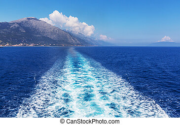 Boat trip in Greece