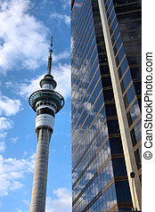 Auckland - Sky Tower in Auckland CBD. Tallest free-standing...