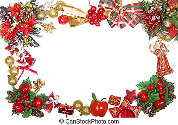 christmas wreath frame - beautiful shiny decorative...