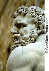 Hercules and cacus - Hercules face