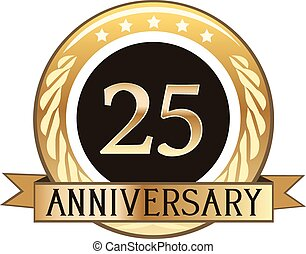 Twenty Five Year Anniversary Badge