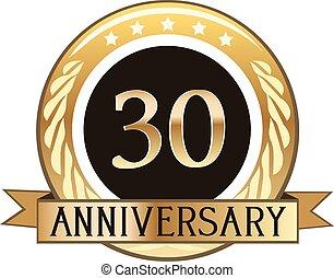 Thirty Year Anniversary Badge