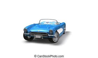Chevrolet Corvette 1957 - This is a 3D render