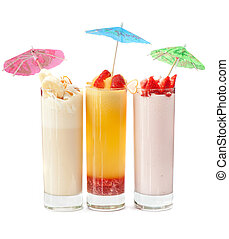 three healthy nonalcoholic cocktails - Set of three healthy...