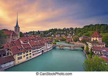 Bern. - Image of Bern, capital city of Switzerland, during...