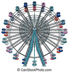 Colorful Double Carousel Vect... - Colorful Double Carousel...