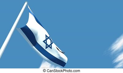 Israeli flag - This is a very realistic 3D render