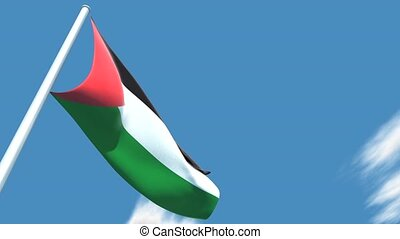 Palestinian flag. - This is a very realistic 3D render. The...