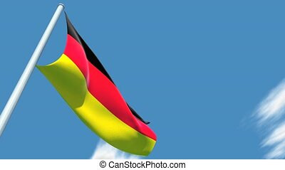 German flag. - This is a very realistic 3D render
