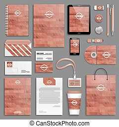 Corporate identity template set Business stationery mock-up...
