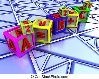 theorem; - Pythagorean theorem over Triangle shaped tiles